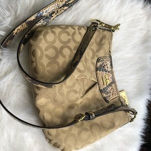 Snake skin coach purse with wallet